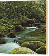 Oconaluftee River Wood Print