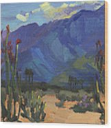 Ocotillos At Smoke Tree Ranch Wood Print