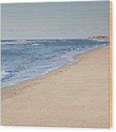 Ocracoke Beach Wood Print