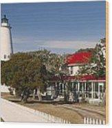 Ocracoke Island Lighthouse Img 3529 Wood Print