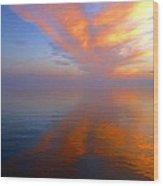 Ocracoke Nc Sunrise Wood Print by Joan Meyland