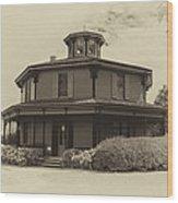 Octagon House  17739b Wood Print
