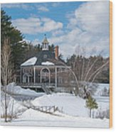 Octagon House Wood Print