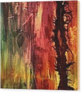 October Abstract Wood Print by Patricia Motley