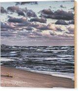 October At The Beach Saugatuck Michigan Wood Print