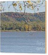 October Bluffs Wood Print