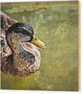 October Duck Wood Print