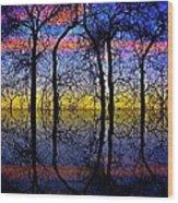 October Dusk  Wood Print