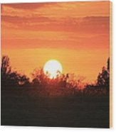 October East Texas Sunset Wood Print