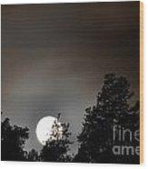 October Full Moon I Wood Print