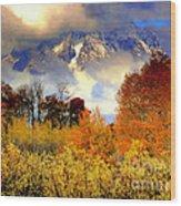October In Grand Tetons Wood Print