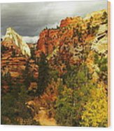 October In Zion Wood Print