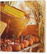 October Market Wood Print