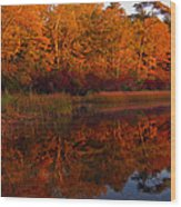 October Mirror Wood Print