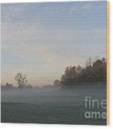 October Mist Wood Print