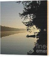 October Morning Wood Print