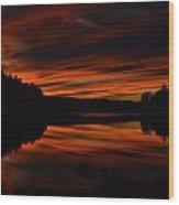October Red Wood Print