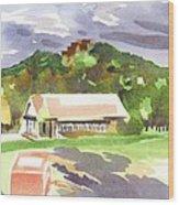 October Shadows At Fort Davidson Wood Print
