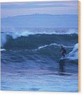 October Surf Wood Print