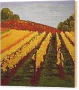 October Vineyard Wood Print