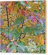 October Watercolors_4 Wood Print by Halyna  Yarova