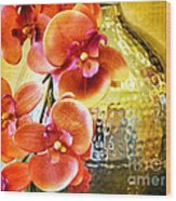 October's Orchids Wood Print