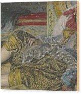 Odalisque Wood Print by Pierre Auguste Renoir