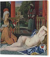 Odalisque With Slave Wood Print by Ingres