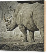 Odd-toed Rhino Wood Print