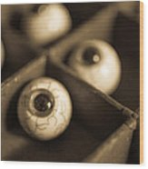 Oddities Fake Eyeballs Wood Print by Edward Fielding