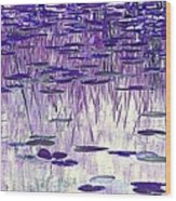 Ode To Monet In Purple Wood Print