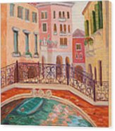 Ode To Venice Wood Print