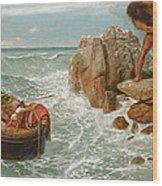 Odysseus And Polyphemus Wood Print