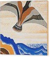 Odyssey Illustration  Bird Of Potent Wood Print