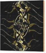 Of Golden Waves Wood Print