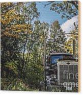 Off Road Trucker Wood Print