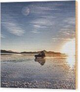 Off Road Uyuni Salt Flat Tour Dramatic Wood Print