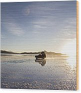 Off Road Uyuni Salt Flat Tour Wood Print