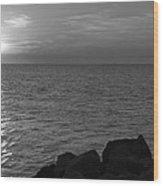 Off The Rocks Wood Print