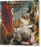Offering To Ceres Goddess Of Harvest Wood Print