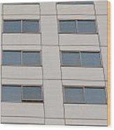 Office Building Windows Wood Print