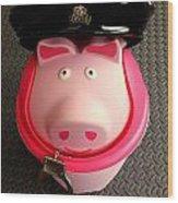 Officer Bacon Wants A Doughnut Wood Print