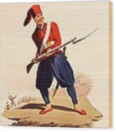 Officer Of European Infantry Of Ottoman Wood Print by Thomas Charles Wageman
