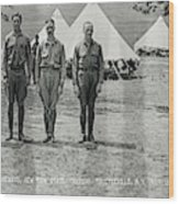 Officers At Camp Newayo, New York State Wood Print