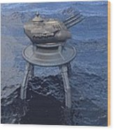 Offshore Turret Wood Print