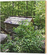 Ogle Tub Mill Roaring Fork Smoky Mountains Wood Print