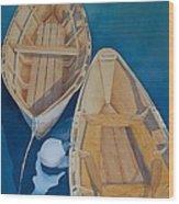 Oguniquit Boats Wood Print