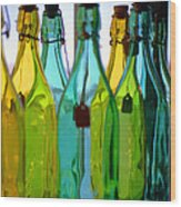 Ogunquit Bottles Wood Print