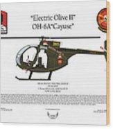 Oh-6a Electric Olive II Loach Wood Print