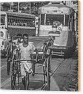 Oh Calcutta Monochrome Wood Print